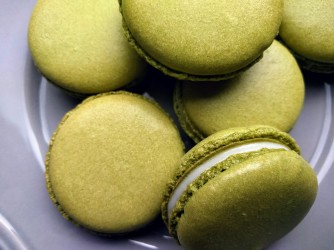 Matcha with white chocolate ganache.